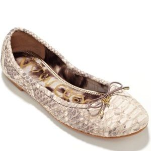 Never Worn Outside Sam Edelman Snakeskin Flats